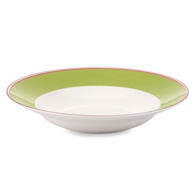 kate spade new york Market Street Green 9-Inch Pasta/Rim Soup Bowl