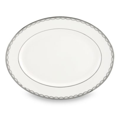 Lenox® Iced Pirouette 13-Inch Oval Platter