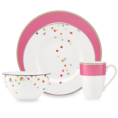 kate spade new york Market Street Pink 4-Piece Place Setting