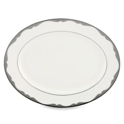 kate spade new york Trimble Place Platinum 13-Inch Serving Platter