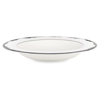 kate spade new york Trimble Place Platinum 9-Inch Pasta/Rim Soup Bowl