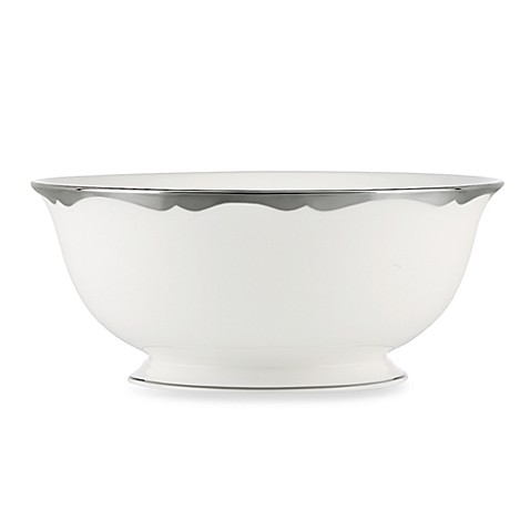 kate spade new york Trimble Place Platinum Serving Bowl