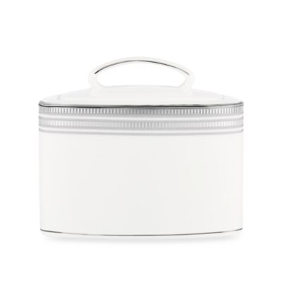 kate spade new york Palmetto Bay Platinum Covered Sugar Bowl