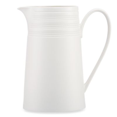 kate spade new york Fair Harbor Large Pitcher in White Truffle