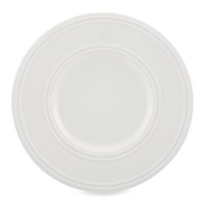 kate spade new york Fair Harbor Dessert Plate in White Truffle