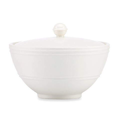 kate spade new york Fair Harbor White Truffle Covered Sugar Bowl