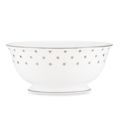 kate spade new york Larabee Road Platinum 8.5-Inch Serving Bowl