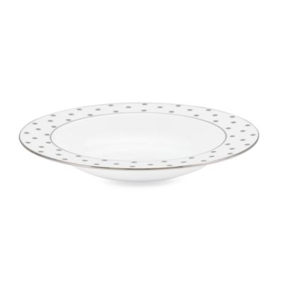 kate spade new york Larabee Road Platinum 8 1/2-Inch Pasta/Rim Soup Bowl