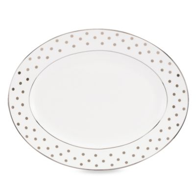 kate spade new york Larabee Road Platinum 13-Inch Serving Platter