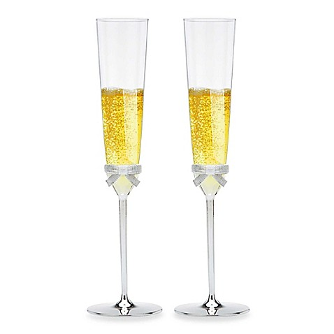 kate spade new york Grace Avenue Toasting Flutes (Set of 2)