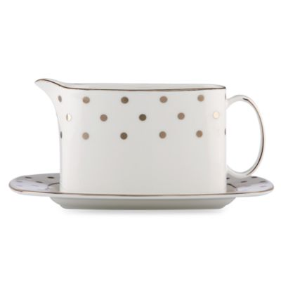 kate spade new york Larabee Road™ Platinum Gravy Boat with Stand