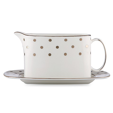 kate spade new york Larabee Road Platinum Gravy Boat with Stand