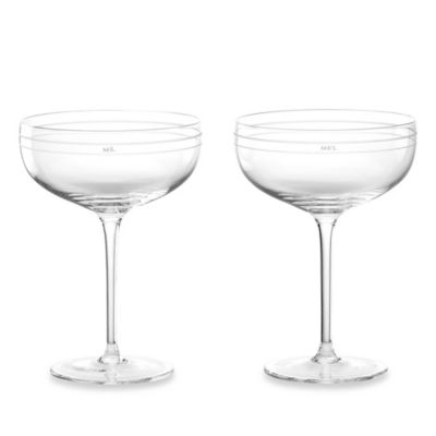 kate spade new york Darling Point™ Champagne Glasses (Set of 2)