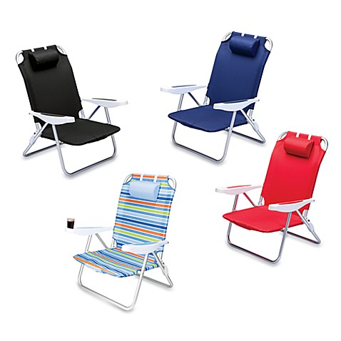 Picnic Time® Monaco Beach Chair - Multi Stripes