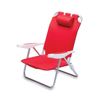 Picnic Time® Monaco Beach Chair in Black