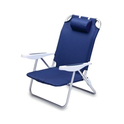 Picnic Time® Monaco Beach Chair in Navy