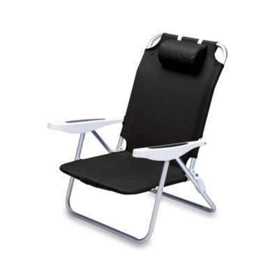 Picnic Time® Monaco Beach Chair in Black