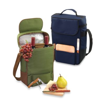 Picnic Time® Duet Insulated Wine and Cheese Tote in Navy