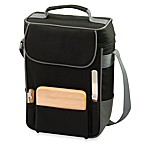Picnic Time® Duet Insulated Wine and Cheese Tote in Black & Grey