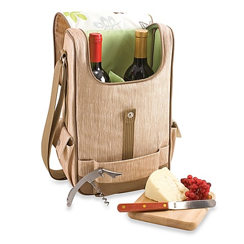 Picnic Time® Duet Insulated Wine and Cheese Tote - Botanica
