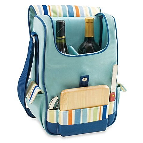 Picnic Time® Duet Insulated Wine and Cheese Tote - St. Tropez Stripe