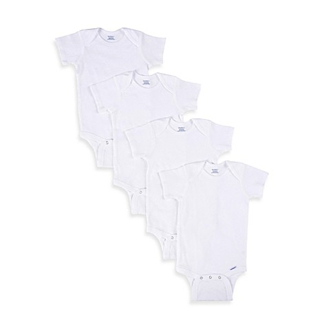 Gerber® White Onesies® (Set of 5) - Size 12 Months