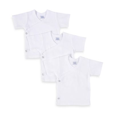 Gerber® Snap Side Size 0 - 3 Months Shirts in White (Set of 3)