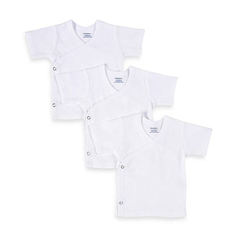 Gerber® Snap Side Shirts in White (Set of 3)