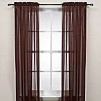 Cocoa Rod Pocket Sheer Window Curtain Panel