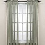 Sage Rod Pocket Sheer Window Curtain Panel
