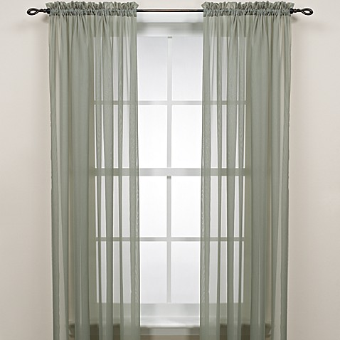 Sage Rod Pocket Sheer Window Curtain Panel Bed Bath Amp Beyond