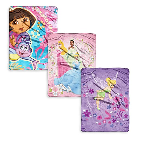 Children's Favorite Character Blankets - Girls