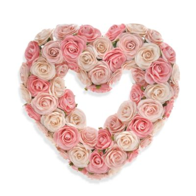 Glenna Jean Rosebud Heart Wreath