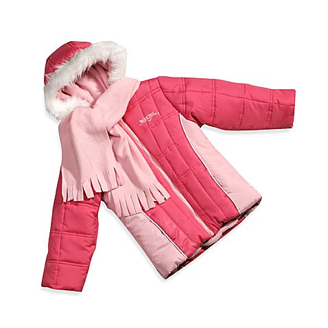 Pacific Trail Pink Hooded Jacket with Scarf
