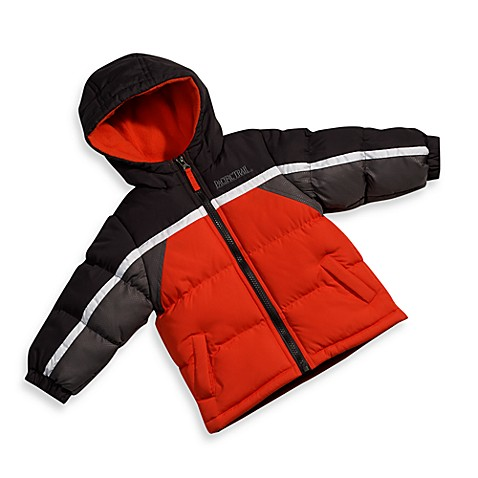 Pacific Trail Orange and Black Colorblock Hooded Jacket