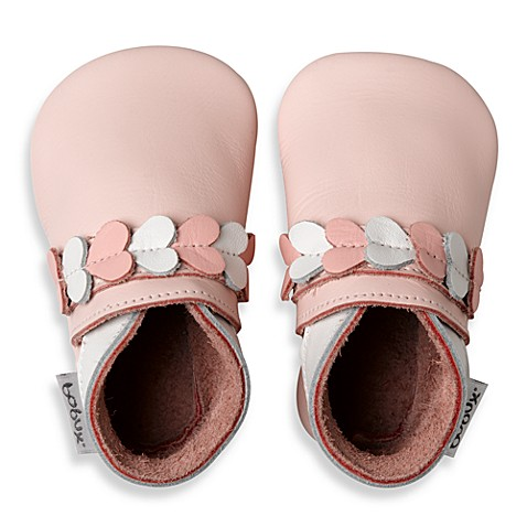 Bobux® Ice Pink Baby Hearts Shoes - 0 - 3 Months