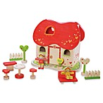 EverEarth Wooden Dollhouse with Figures and Accessories