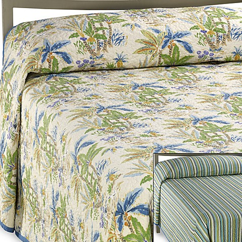 Lagoon Reversible Queen Bedspread