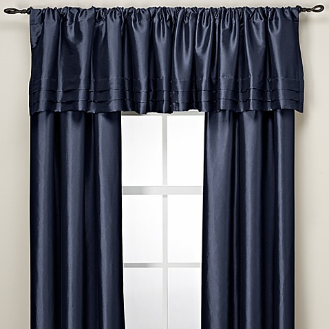 Argentina Tailored Valance in Navy