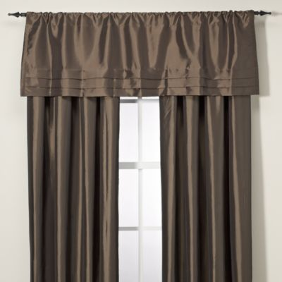 Argentina Tailored Valance in Charcoal