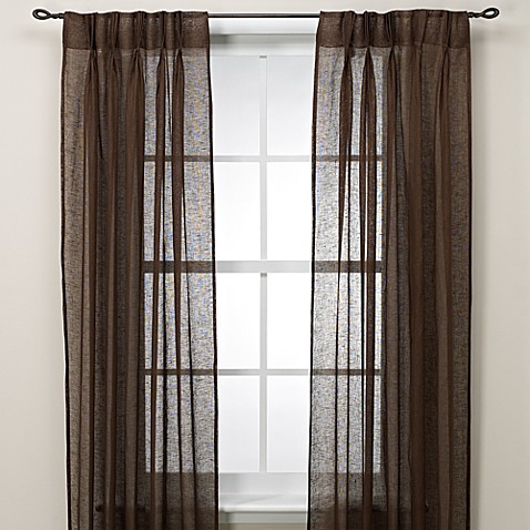 Cosmo Back Tab Pinch Pleat 63-Inch Window Curtain Panel