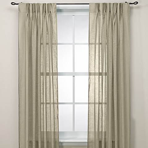 Buy Cosmo Back Tab Pinch Pleat 63 Window Curtain Panel From Bed Bath Beyond
