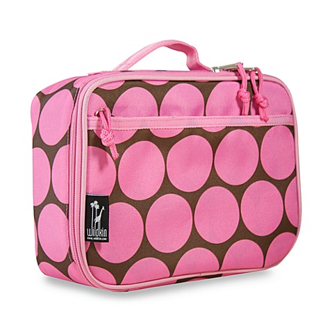 Wildkin Ashley Collection Big Dots Pink Lunch Box
