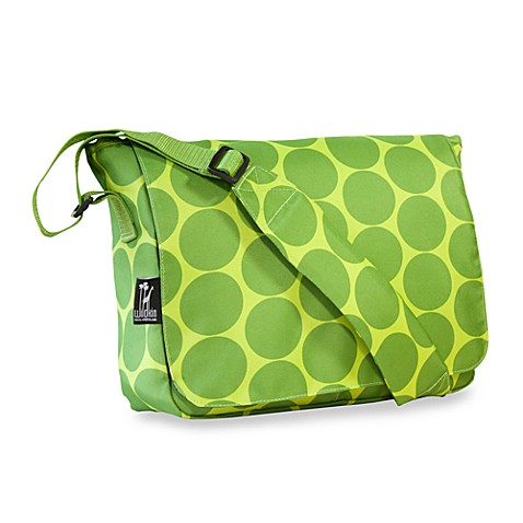 Wildkin Ashley Collection Big Dots Green Messenger Bag