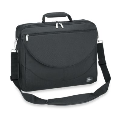 Sumdex Passage Series Compact Expandable 17.3-Inch PC/17-Inch MacBook Pro® Briefcase in Black