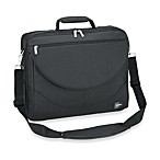 Sumdex Passage Series Compact Expandable 17.3-Inch PC / 17-Inch MacBook Pro® Briefcase in Black