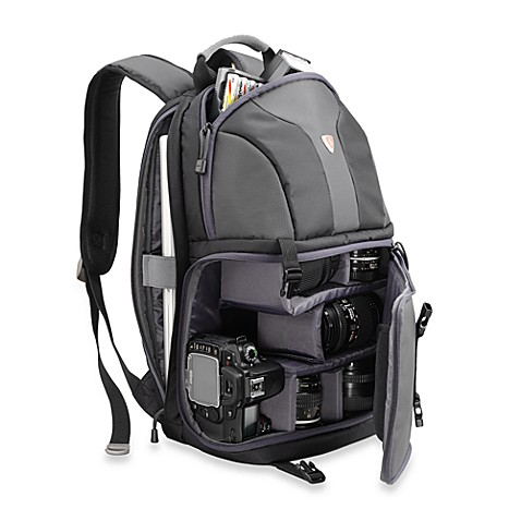 Sumdex®  Impulse Series Nylon SLR Camera/14.1-Inch Notebook Backpack in Black