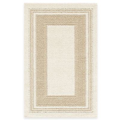 Double Border 3-Foot 4-Inch x 5-Foot Rug in Cream