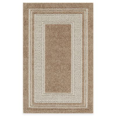 Double Border 1-Foot 8-Inch x 2-Foot 10-Inch Rug in Toast