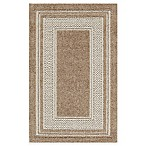 Double Border 3-Foot 4-Inch x 5-Foot Rug in Toast